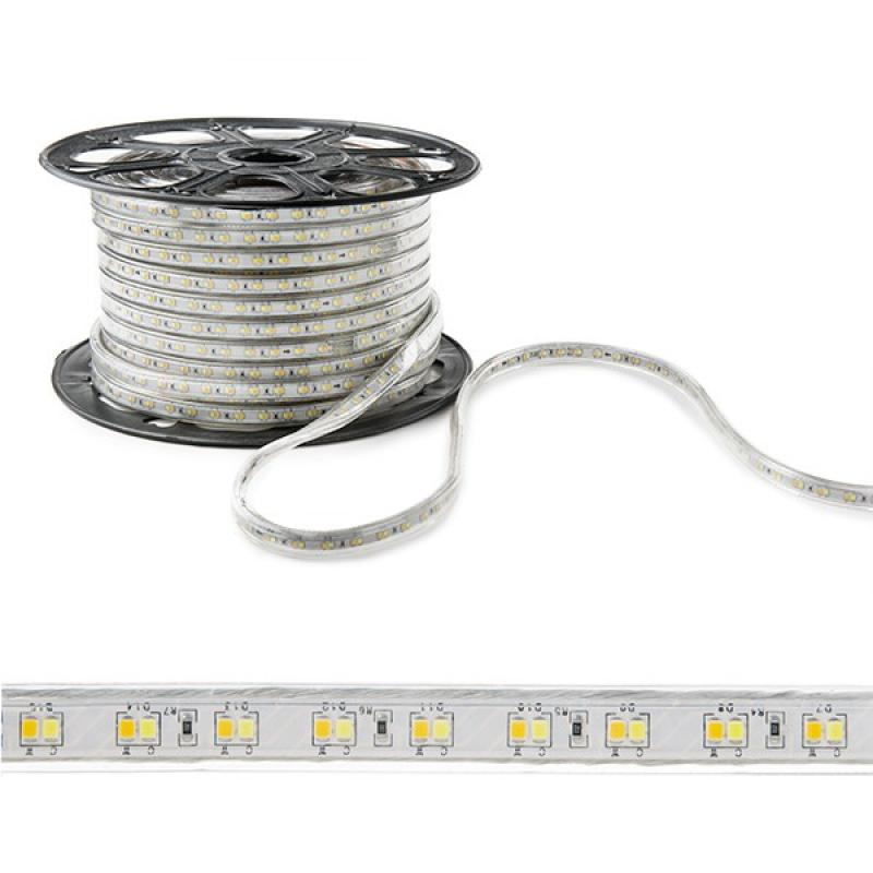 Tira LED 230VAC SMD2835 120LEDs 12W/M Cálido/Frío IP65 (Por Metros) - Imagen 1
