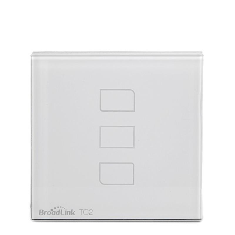 Interruptor Táctil Pared Inteligente Broadlink Basic Triple - Imagen 1