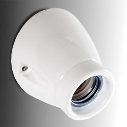 Aplique E27 Porcelana Blanca Ø 75Mm H 65Mm Mila