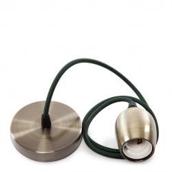 Pendel E27 Cable 1000 X 0,75Mm Tela - Rosetón [SC-MPL017] SC-MPL017 - Imagen 1