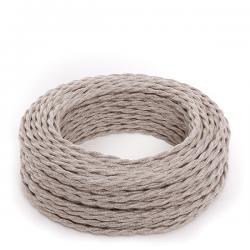 Cable Trenzado Lona Beige 2X0,75 (Por Metros)