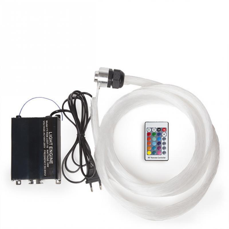 Maquina de Luz Fibra Óptica 150 Hilos 16W LED RGB - Imagen 1
