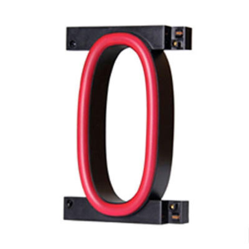 Número LED Neon 0 Ancho 90Mm Alto 161Mm Fondo 38Mm - Imagen 1