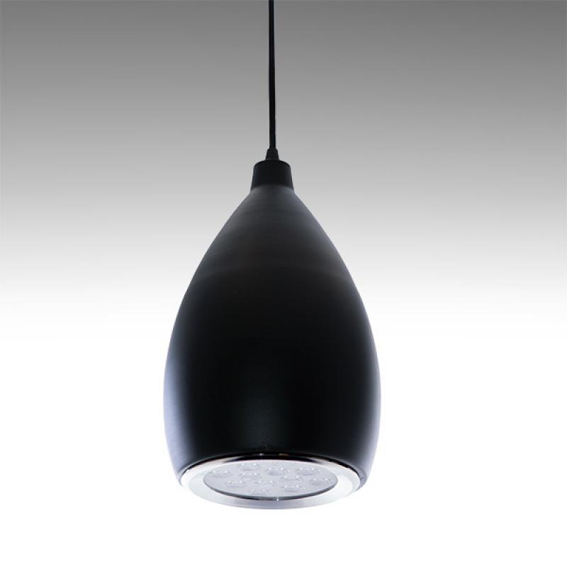 Lámpara LED Suspendida Pera Negro 12W 1100Lm 30.000H Brynlee - Imagen 1