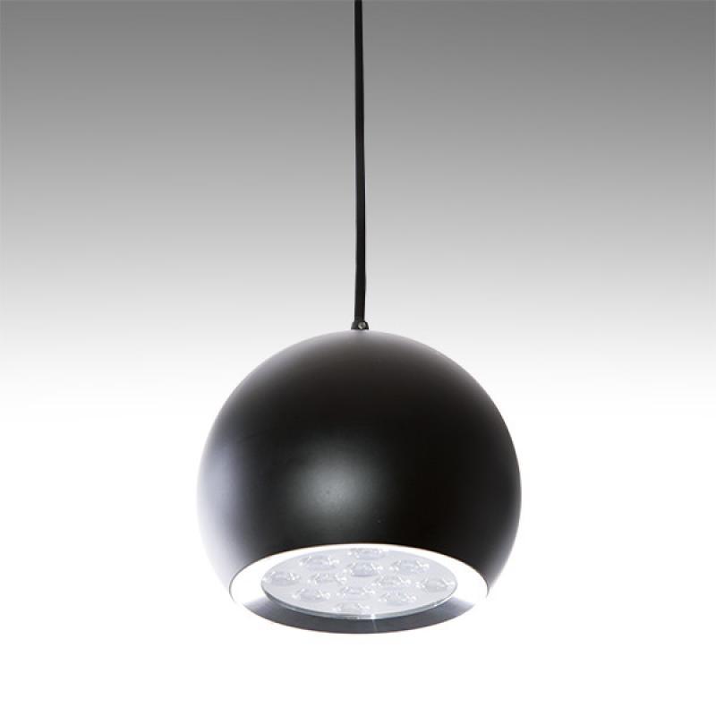 Lámpara LED Suspendida Bola Negro 12W 1100Lm 30.000H Lila - Imagen 1