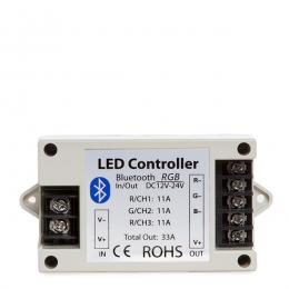Controlador Tira LED RGB Bluetooth Smartphone 12-24VDC 400-800W - Imagen 2