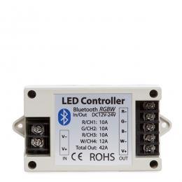 Controlador Tira LED RGBw Bluetooth Smartphone 12-24VDC 500-1000W - Imagen 2