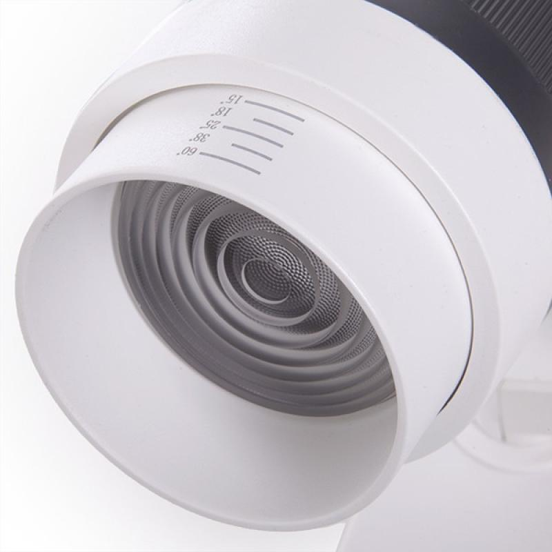 Foco Carril LED Trifásico Apertura Variable 10-60º 30W 2700Lm 50.000H Kayla - Imagen 4