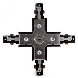 Conector X Carril Bifásico Negro - Imagen 2