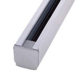 Carril Trifásico Focos LED 1M Plata - Imagen 2