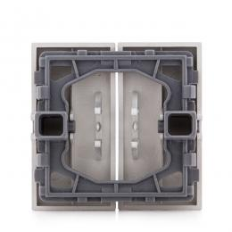 Tecla Partida Panasonic Novella Interruptor/Conmutador Doble, Color Plata (Compatible Mecanismo Karre) - Imagen 2