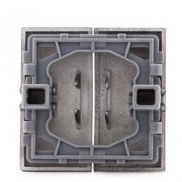 Tecla Partida Panasonic Novella Interruptor/Conmutador Doble, Color Fume (Compatible Karre) - Imagen 2