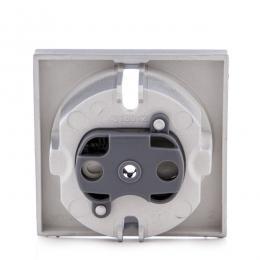 Cazoleta Panasonic Novella Toma Corriente Tt Lateral, Plata, (Compatible Mecanismo Karre) - Imagen 2