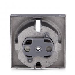 Cazoleta Panasonic Novella Toma Corriente Tt Lateral, Fume, (Compatible Mecanismo Karre) - Imagen 2