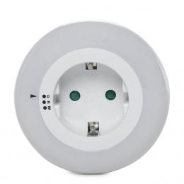 Luz Nocturna LED RGB 1X Toma Corriente - Sensor Crepuscular - IP20 Blanco - Imagen 2