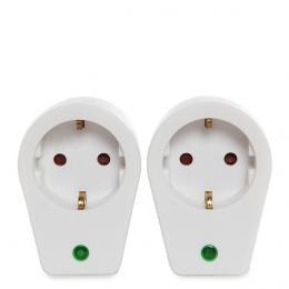 Set 2 X Adaptador 1 X Tomas - Protección Sobretensiones - IP20 - Blanco - Imagen 2