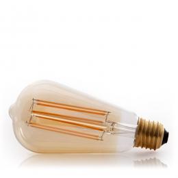 Bombilla Vintage LED Dimable St64 Edison Onda 4W E27 Vidrio Ámbar - Imagen 2