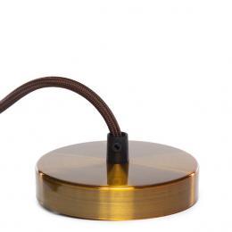 Pendel E27 Cable 1500Mm Oro 3X0,75 Portalámparas Oro - Rosetón Oro - Imagen 2