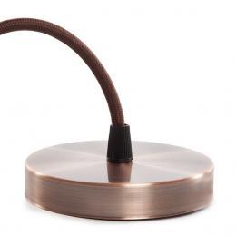 Pendel E27 Cable 1000 X 0,75Mm Tela - Rosetón [SC-MPL020] SC-MPL020 - Imagen 2