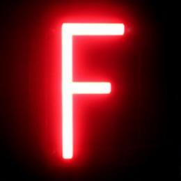 Letra LED Neon F Ancho 84Mm Alto 161Mm Fondo 38Mm - Imagen 2