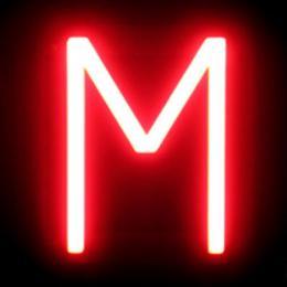 Letra LED Neon M Ancho 123Mm Alto 161Mm Fondo 38Mm - Imagen 2
