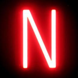 Letra LED Neon N Ancho 97Mm Alto 161Mm Fondo 38Mm - Imagen 2