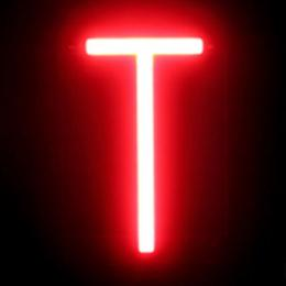 Letra LED Neon T Ancho 95Mm Alto 161Mm Fondo 38Mm - Imagen 2