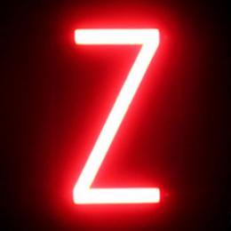 Letra LED Neon Z Ancho 87Mm Alto 161Mm Fondo 38Mm - Imagen 2
