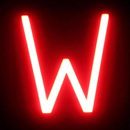 Letra LED Neon W Ancho 146Mm Alto 161Mm Fondo 38Mm - Imagen 2