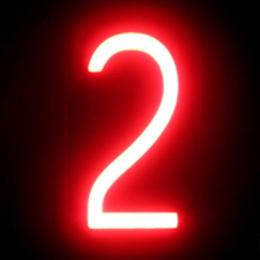 Número LED Neon 2 Ancho 84Mm Alto 161Mm Fondo 38Mm - Imagen 2