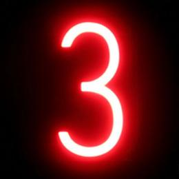 Número LED Neon 3 Ancho 90Mm Alto 161Mm Fondo 38Mm - Imagen 2