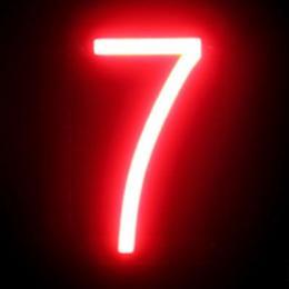 Número LED Neon 7 Ancho 87Mm Alto 161Mm Fondo 38Mm - Imagen 2