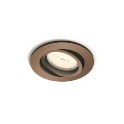 Foco Empotrable Philips Donegal Circular Cobre GU10 - Imagen 1